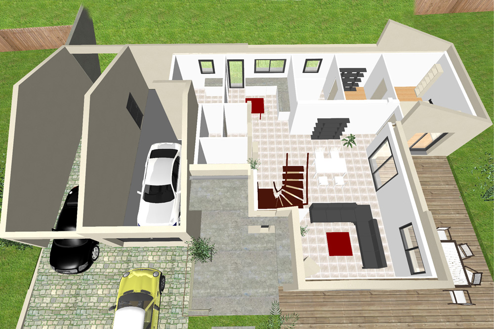 Garage mezzanine plan joy studio design gallery best for Creation maison 3d