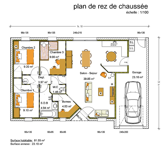 Plan d 39 entree de maison for Entree design maison